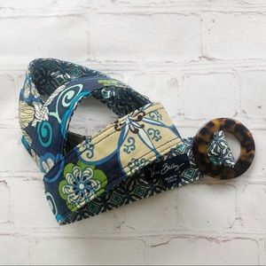 [Vera Bradley] mod floral blue d ring fabric belt